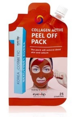 Маска-пленка очищающая EYENLIP POCKET COLLAGEN ACTIVE PEEL OFF PACK  25 гр
