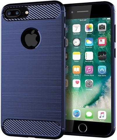 Чехол для iPhone 8 Plus цвет Blue (синий), серия Carbon от Caseport