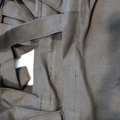 Экосумка без рисунка тонкая черная с дном, 35х38 см (уценка 30%)