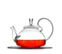 Чайник заварочный, стеклянный, с фильтром, Георгин 800 мл