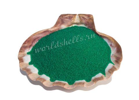 Изумрудно-зеленый кварцевый песок 1 кг.