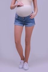 Шорты джинсовые цвет голубой
