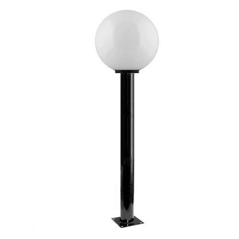 Садово-парковый светильник шар молочный D250mm с металлической опорой H1000mm
