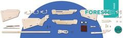 Винтовка FORESTER от TARG - деревянный конструктор, сборная модель, 3d пазл