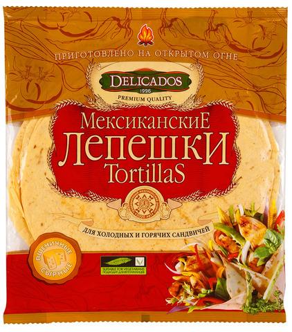 """Лепешки """"DELICADOS"""" Tortillas с сыром 400 г"""