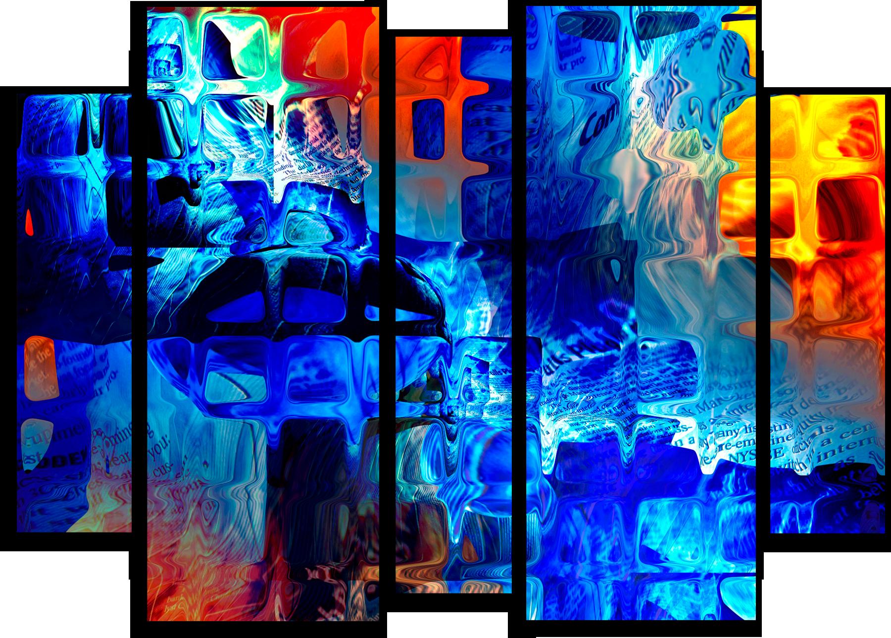 """Модульные картины Модульная картина """"Абстрактное стекло"""" М152.png"""