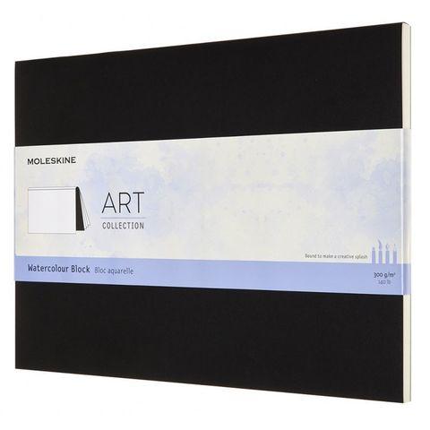 Блокнот Moleskine ART WATERCOLOR ARTWBL10 230х310мм 72стр. нелинованный мягкая обложка черный