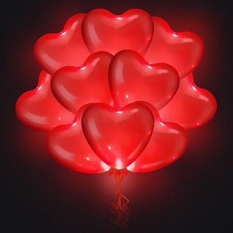 Светящиеся шары Сердца 40 см