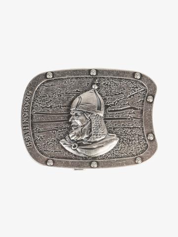 Бляха-автомат цвета старого серебра – Богатырская