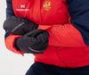 Премиальный теплый зимний костюм Nordski Mount Red-Dark Blue женский с высокой спинкой