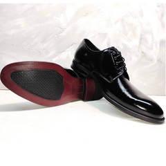 Лакированные туфли мужские классика Ikoc 2118-6 Patent Black Leather