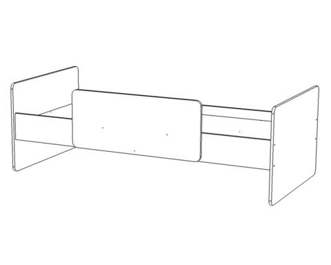 Кровать ЛЕГИЯ-1-1800-0800 /1832*600*868/