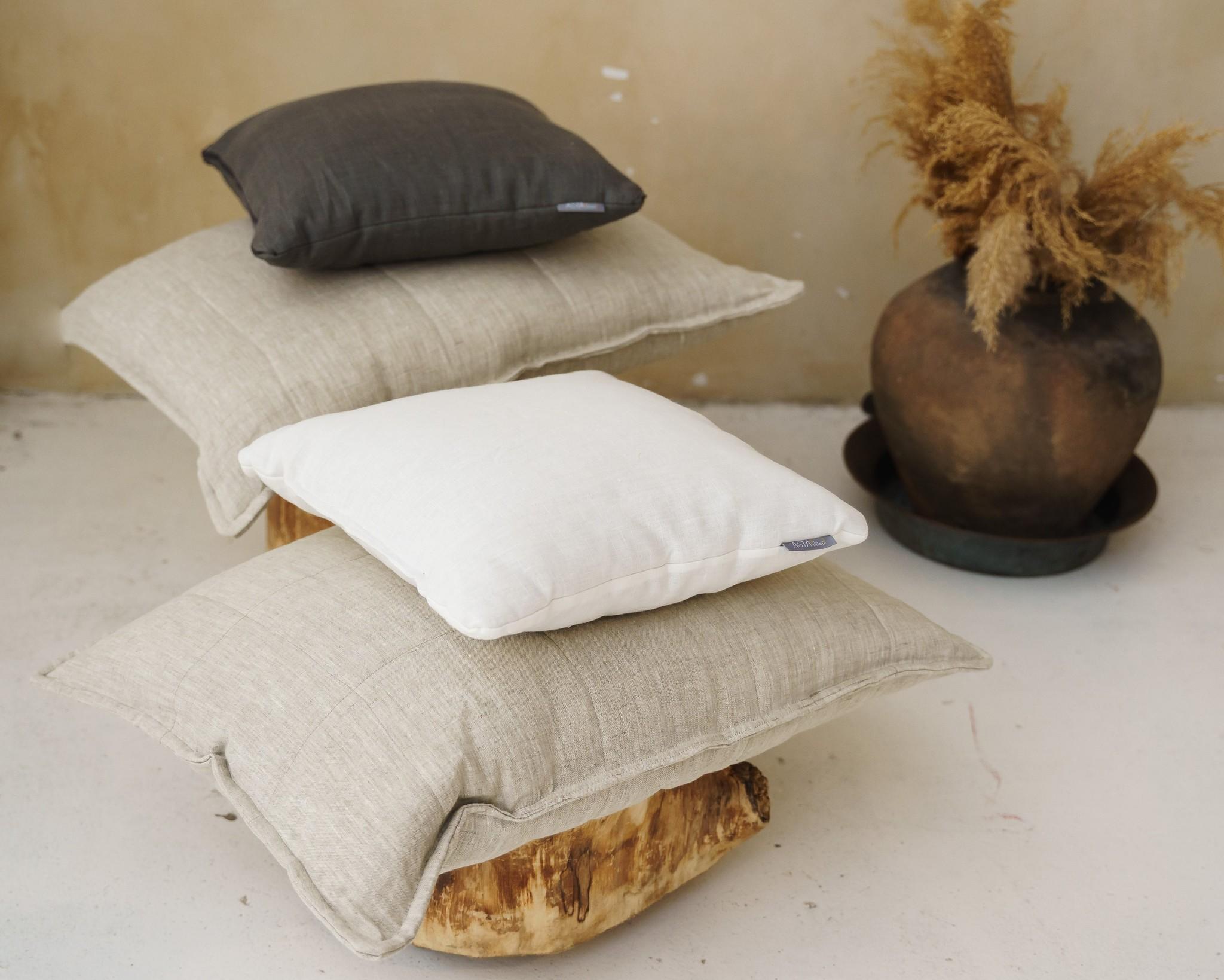 Подушка льняная с льняным наполнителем