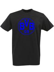 Футболка с однотонным принтом FC Borussia Dortmund (ФК Боруссия) черная 002
