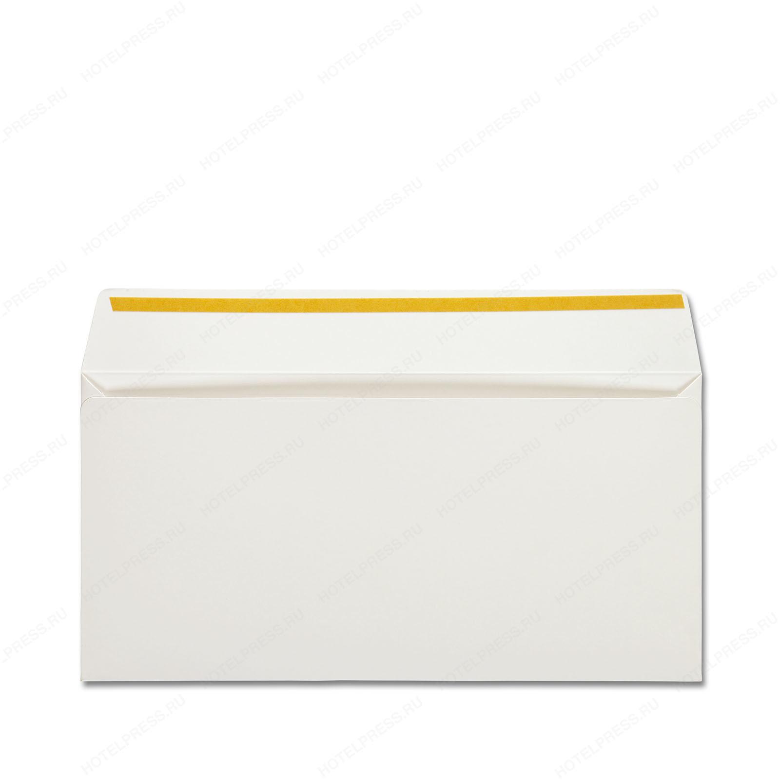 Плотный конверт Е65 из мелованной бумаги для клиники эстетической медицины