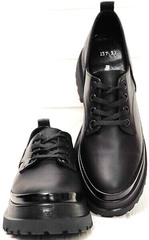 Черные женские туфли на шнурках Marani magli M-237-06-18 Black.