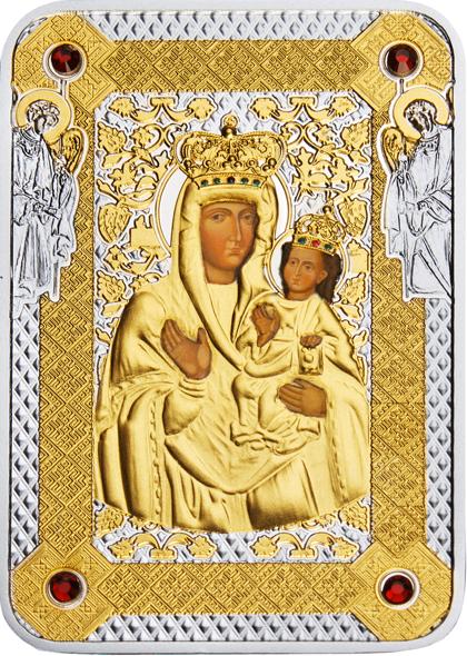 1 доллар. Зарваницкая икона Божией Матери. Ниуэ. 2014 год