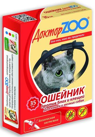 Доктор Зоо ошейник для кошек 35 см.