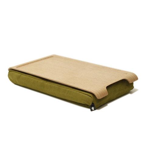 Подставка с деревянным подносом laptray мини дерево-оливка