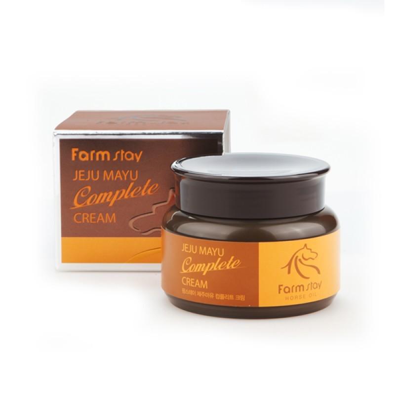 Кремы для лица Крем для лица с лошадиным маслом FARMSTAY  Jeju Mayu Complete Cream 100 мл Крем-для-лица-с-лошадиным-маслом-для-сухой-кожи-FarmStay-Jeju-Mayu-Complete-Horse-Oil-Cream-1.jpeg