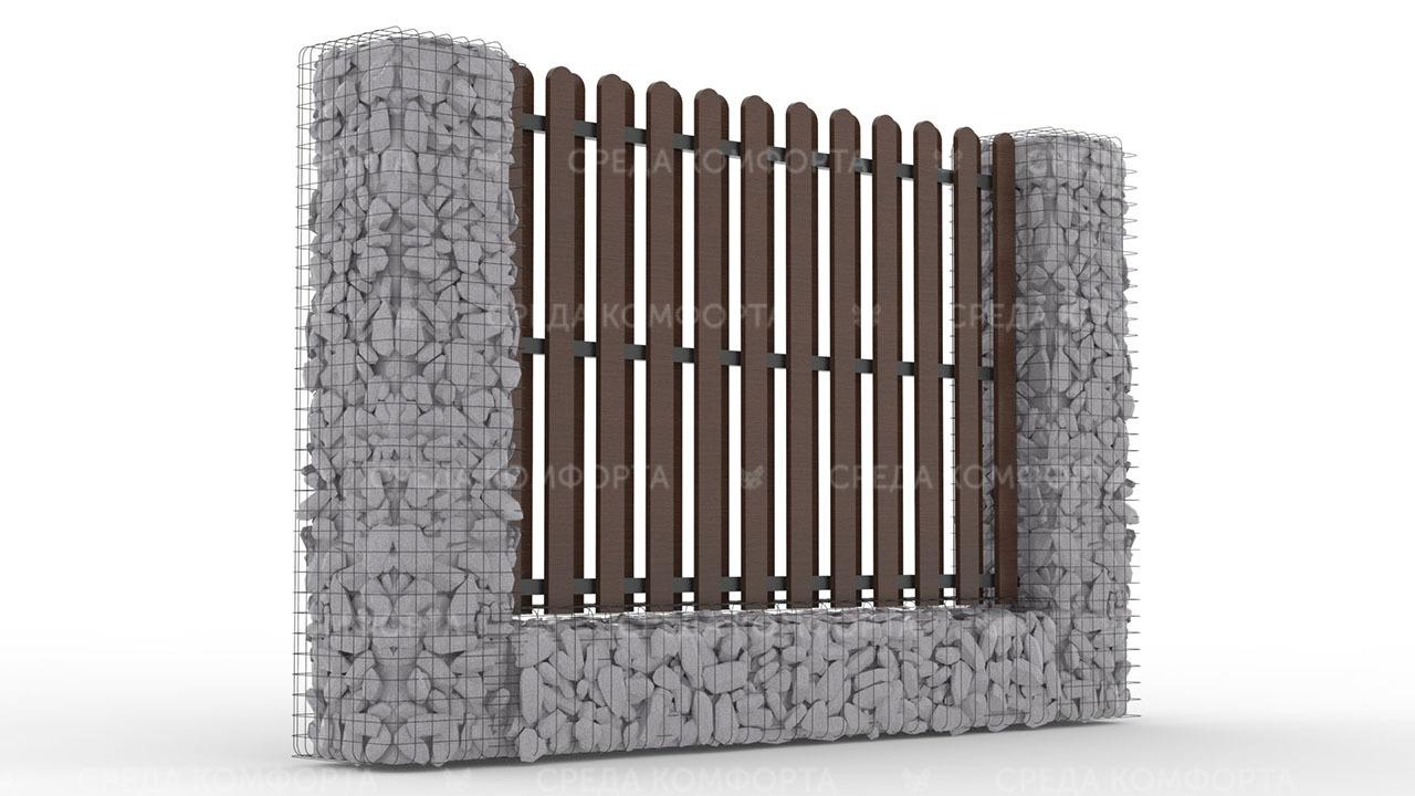 Деревянный забор ZBR0102