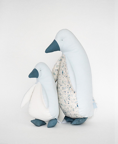 Пингвин- мини голубой
