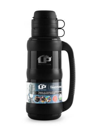 Термос LP Traditional со стеклянной колбой (1,8 литра), черный
