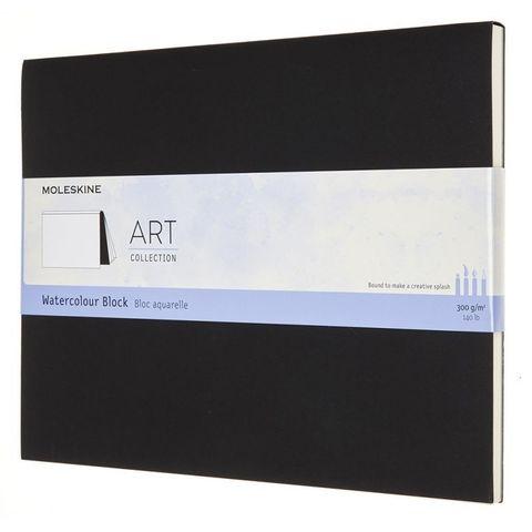 Блокнот Moleskine ART WATERCOLOR ARTWBL4 XLarge 190х250мм 72стр. нелинованный мягкая обложка черный