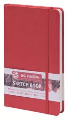 Скетчбук для смешанных техник Art Creation 160г/кв.м 13х21 см 80л твердая обложка красный