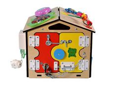 Бизидом радость ребенка с разноцветными дверками
