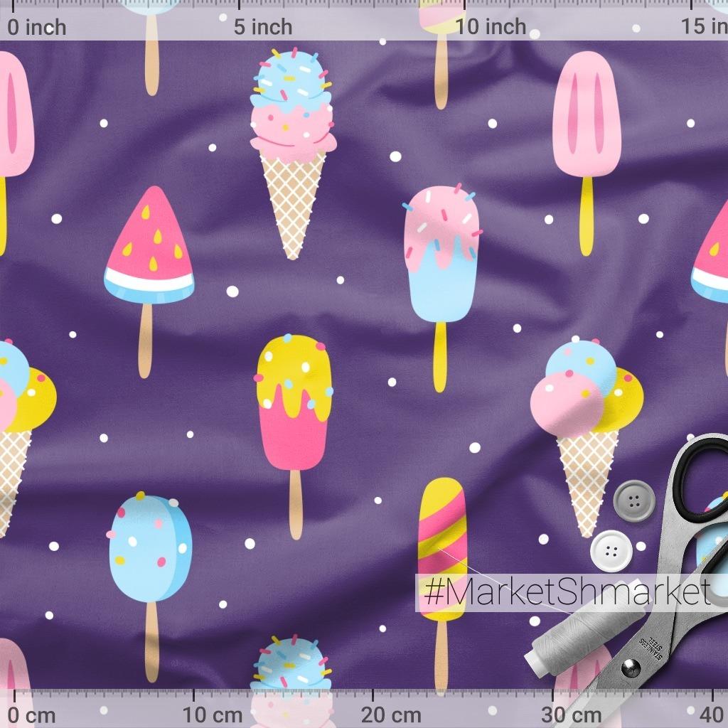 Мороженое на фиолетовом
