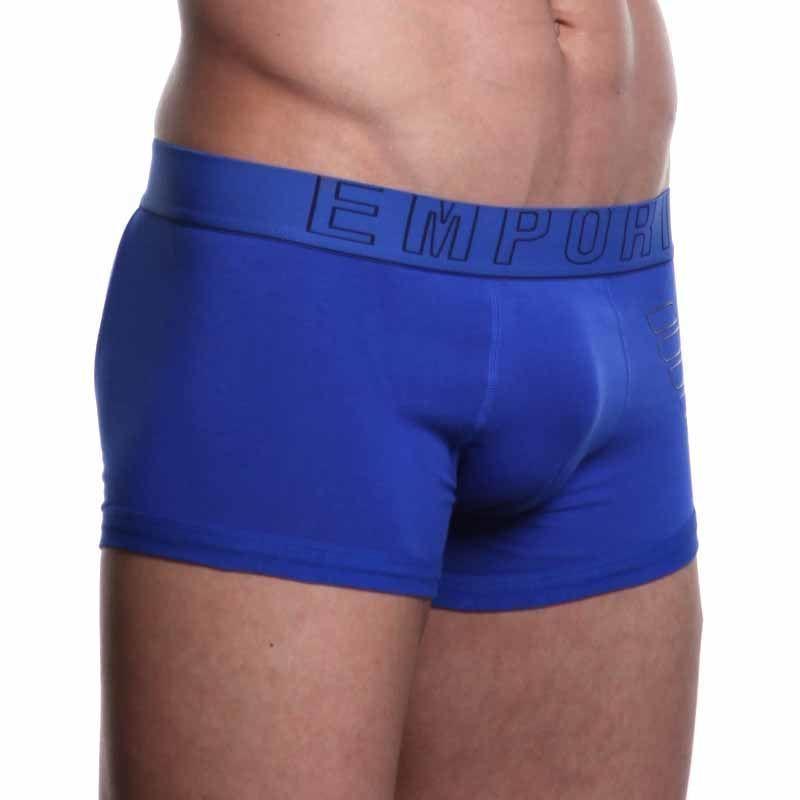 Мужские трусы хипсы синие Emporio Armani Eagle Blue Boxer