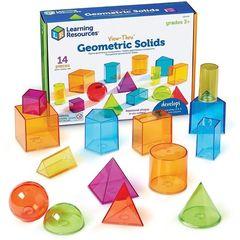Набор объемных геометрических фигур (14 элементов) Learning Resources, арт. LER4331