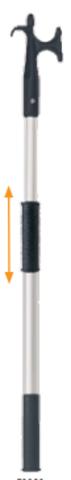 Багор Nuova Rade алюминиевый телескопический, 67-101 см, ⌀ 2,5-3 см
