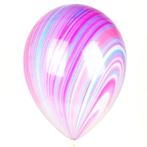 Латексный воздушный шар, цвет агат розово-фиолетовый