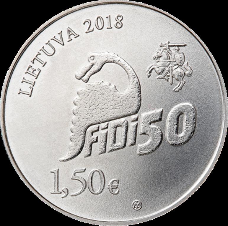 1,5 евро 2018 Литва