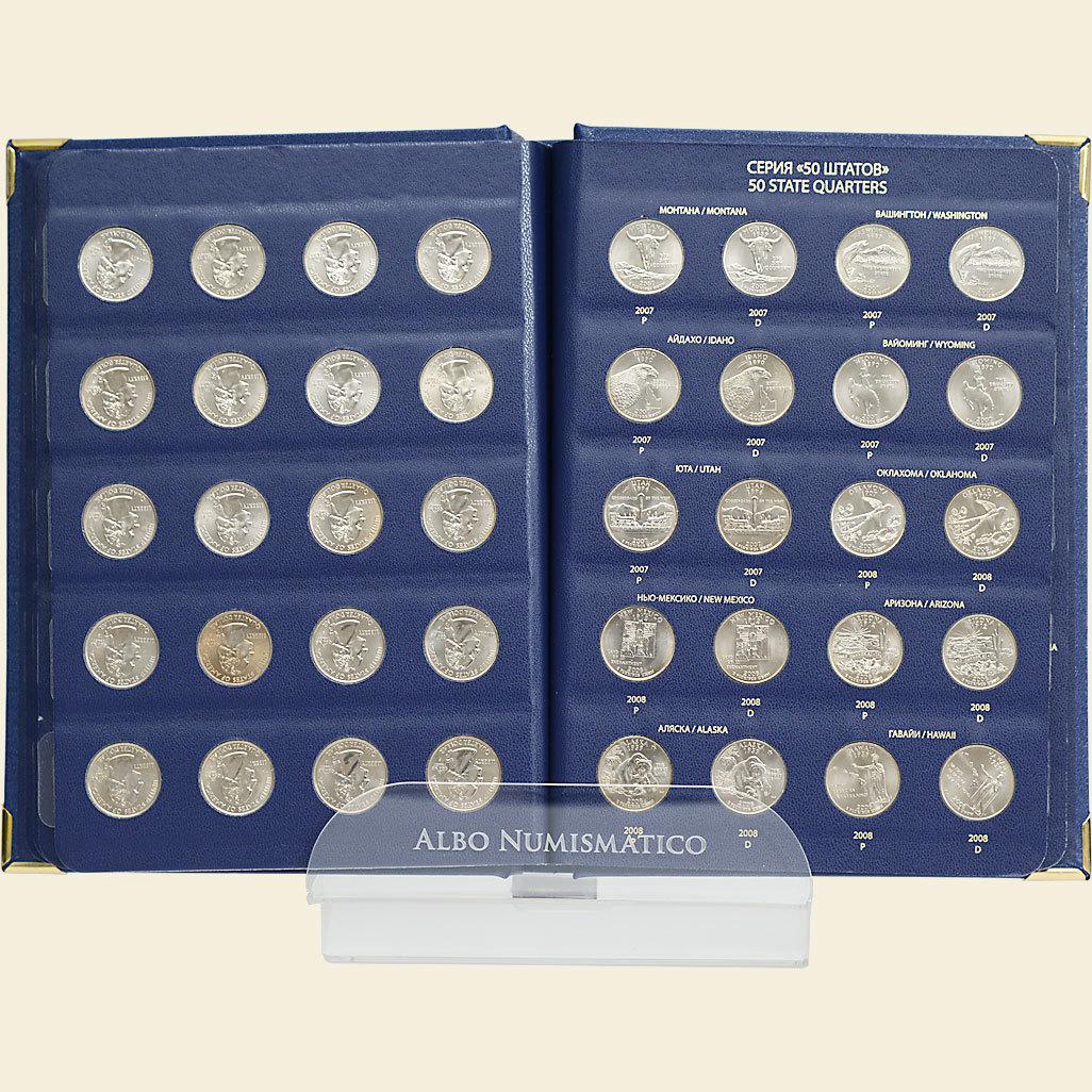 Набор монет в альбоме «Серии памятных монет США
