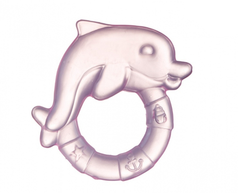 Прорезыватель водный охлаждающий - дельфин, 0+ (2/221) (розовый)