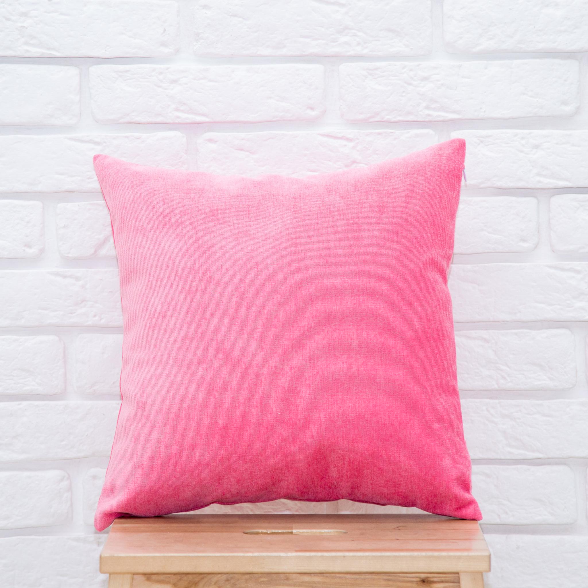Подушка 40*40 микровельвет (розовая)