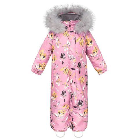 Комбинезон зимний цельный Аполо Розовая Мечта с опушкой