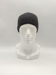 Мужская трикотажная шапка по голове, классика, темно-серая