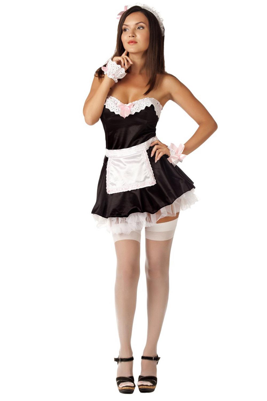 Пышный костюм горничной для эротических ролевых игр