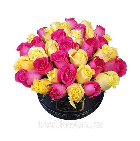 Коробка Maison Des Fleurs малин-желт