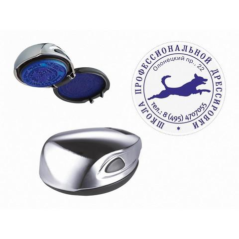 Оснастка для печати круглая Colop Stamp Mouse R40 40 мм серебристая