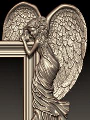 Силиконовый молд № 2939 Ангелы 2 в 1