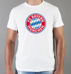 Футболка с принтом FC Bayern Munchen (ФК Бавария) белая 001