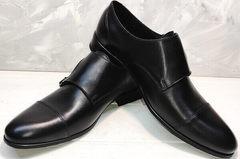 Классические черные туфли мужские модные Ikoc 2205-1 BLC.