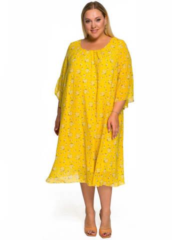 Платье  шифоновое нежно-жёлтое