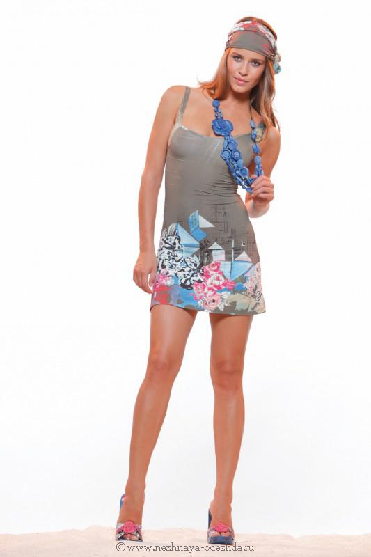 Короткое пляжное платье Save The Queen