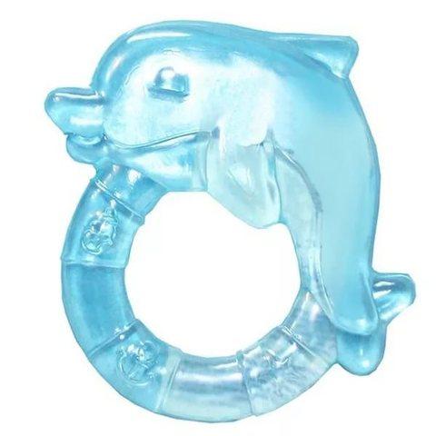 Прорезыватель водный охлаждающий - дельфин, 0+ (2/221) (голубой)